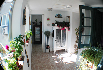 Alojamiento con zonas comunes pensión samos